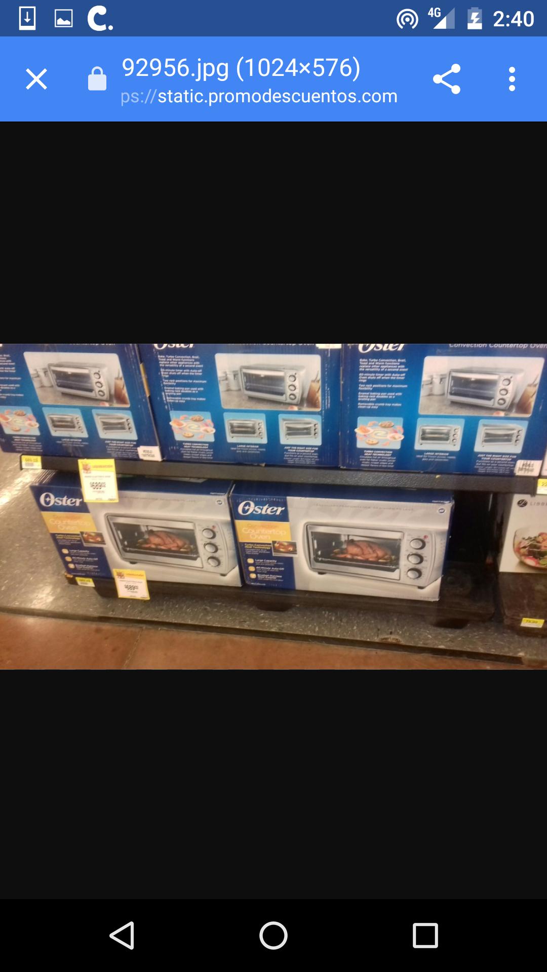 Walmart: Horno eléctrico Oster en $495.01 y