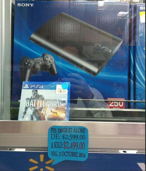 Walmart: PlayStation 3 Super Slim 250GB $2,499 y meses sin intereses