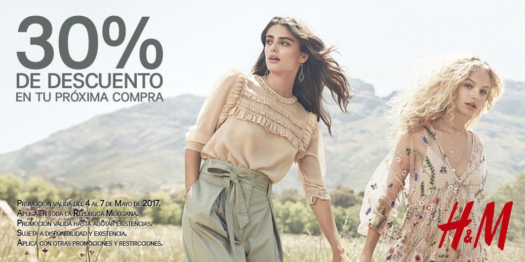 H&M: cupón de 30% de descuento para segunda compra