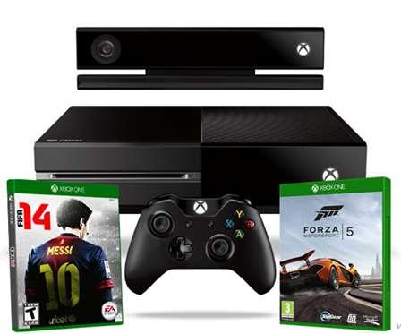 Decompras: Xbox One con Kinect, FIFA 14 y Forza 5 $6,289 y 6 meses sin intereses