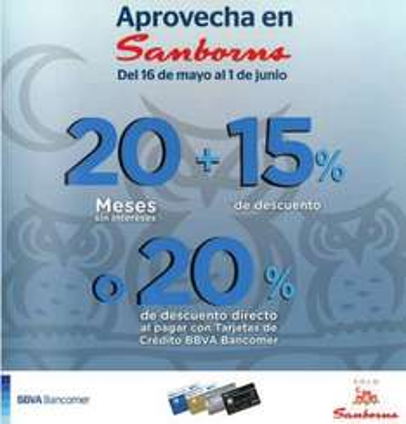 Venta especial Sanborns Bancomer