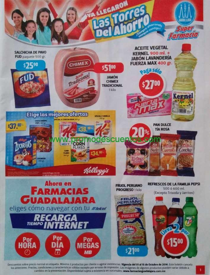 Folleto de ofertas en Farmacias Guadalajara del 1 al 15 de octubre de 2014