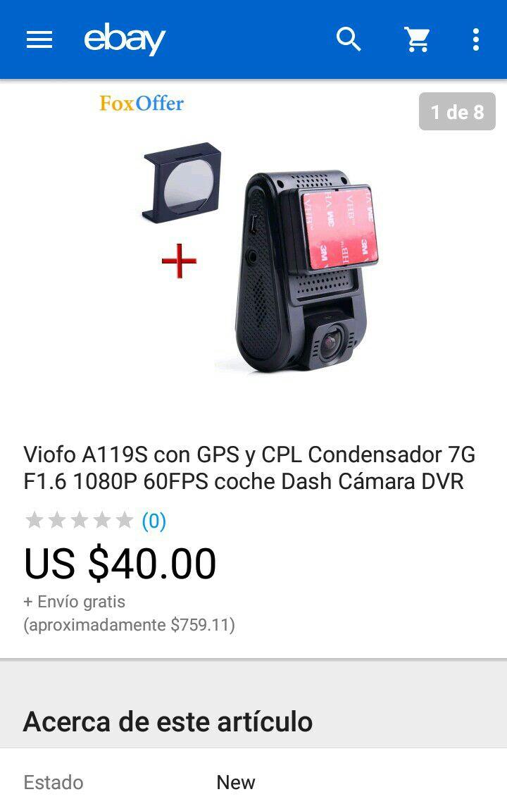 eBay: Dash Cam Viofo A119S con GPS y Filtro a excelente precio