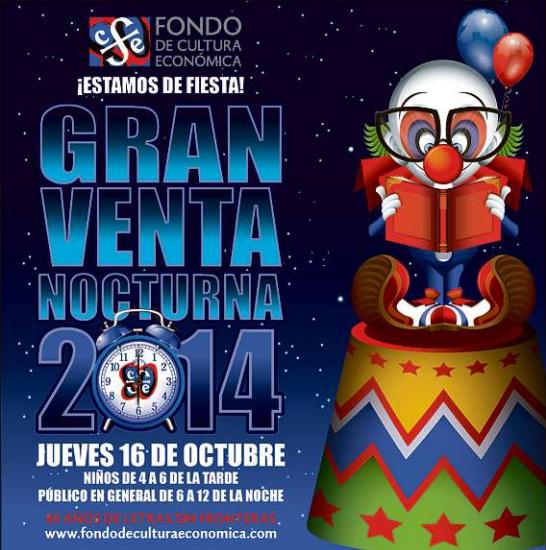 Venta Nocturna del Fondo de Cultura Económica octubre 16 (también por internet)