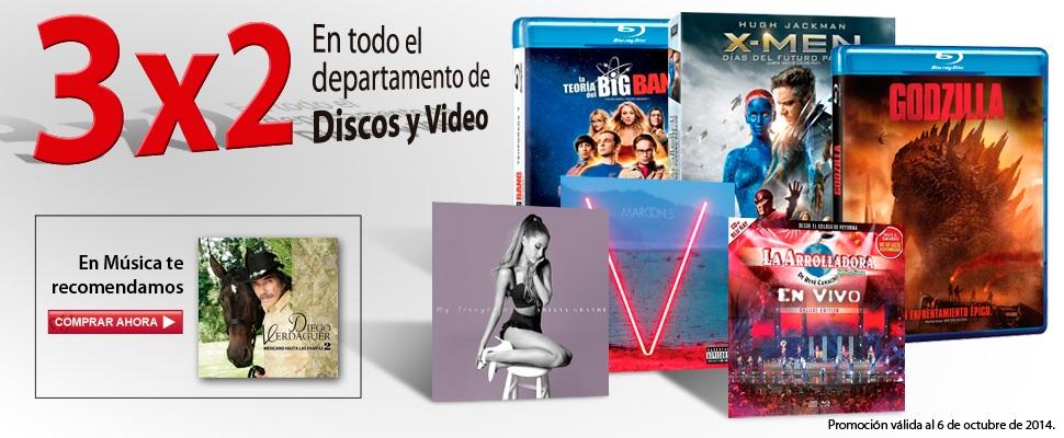 Sears: 3x2 en Discos y Video
