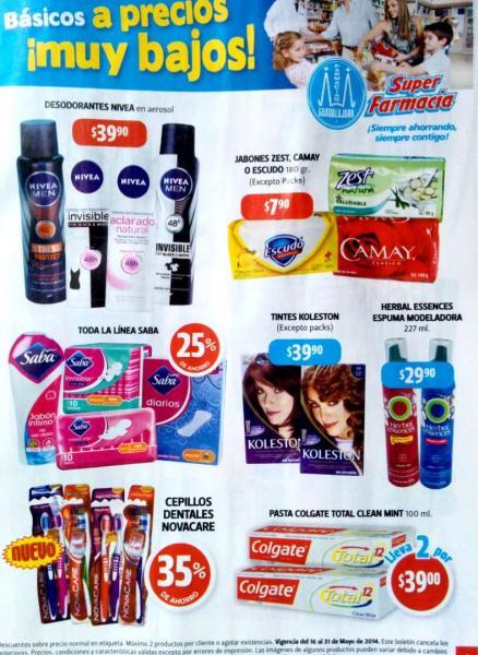 Folleto de ofertas Farmacias Guadalajara de 16 al 31 de mayo 2014