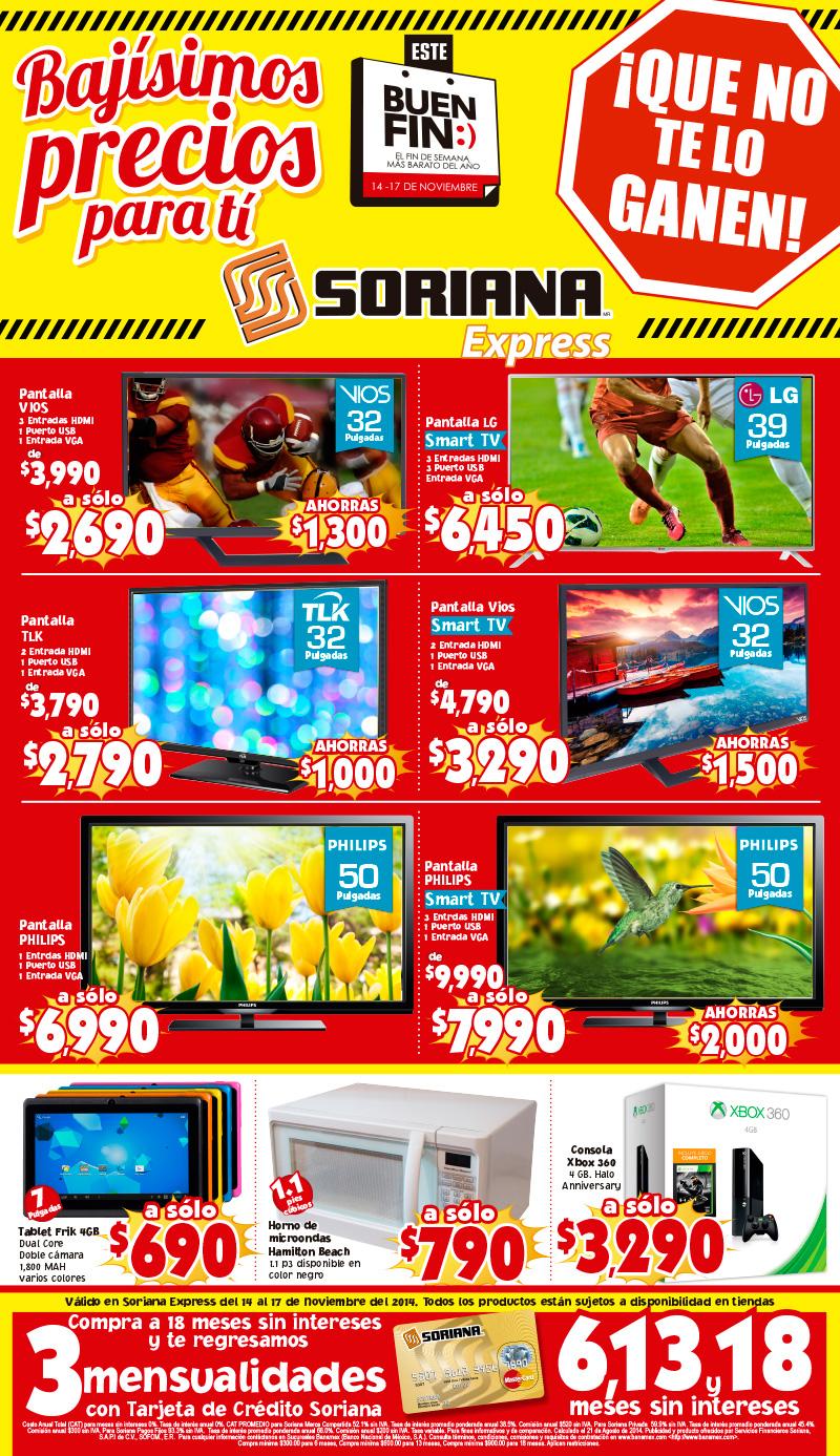 Folleto de ofertas de el buen fin 2014 en mercado soriana for Ofertas recamaras buen fin
