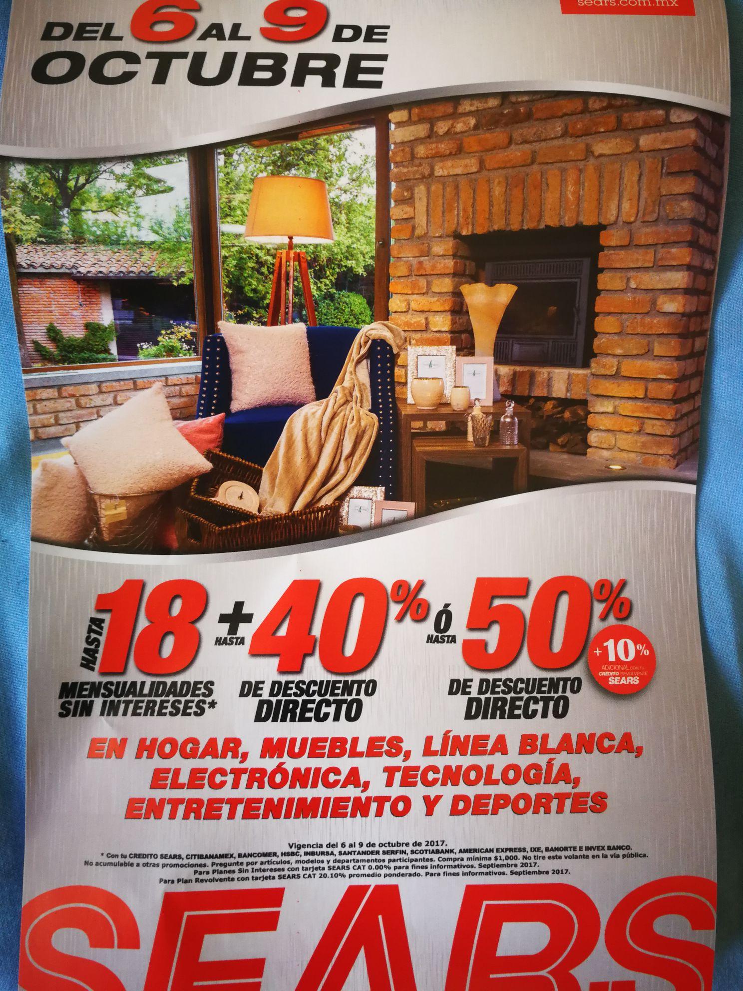 Sears: Hasta el 50% en hogar, muebles, línea blanca, electrónica y ...
