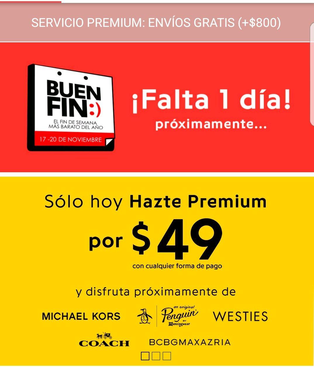 Promociones Pre Buen Fin 2017 Privalia  membresía Premium por  49 1a7297cb9367e