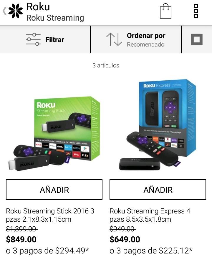 Ofertas Buen Fin 2017 Privalia  oferta en ROKU streaming express y stick.  Clientes nuevos df90f63c139a0