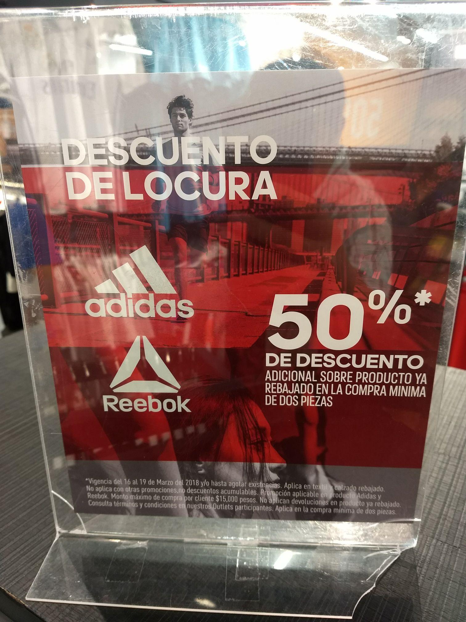 mercenario Motivar Matemático  Adidas Outlet plaza Central cdmx - promodescuentos.com