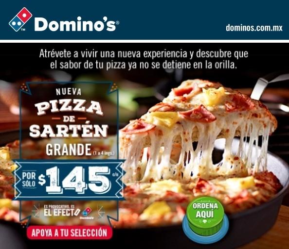 Dominos Pizza Menu >> Domino's: Nueva pizza de sartén grande a $145 - promodescuentos.com