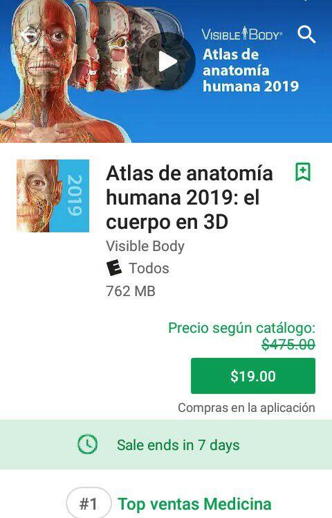 Google Play: Atlas de la anatomia humana 2019 - promodescuentos.com