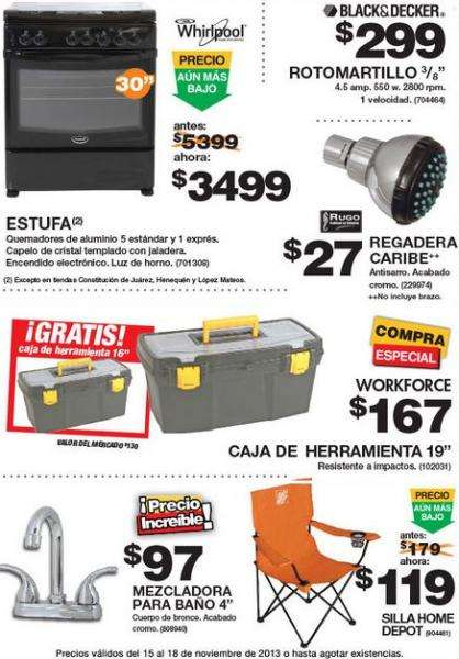 Ofertas del buen fin 2013 en the home depot for Sillas para jardin home depot