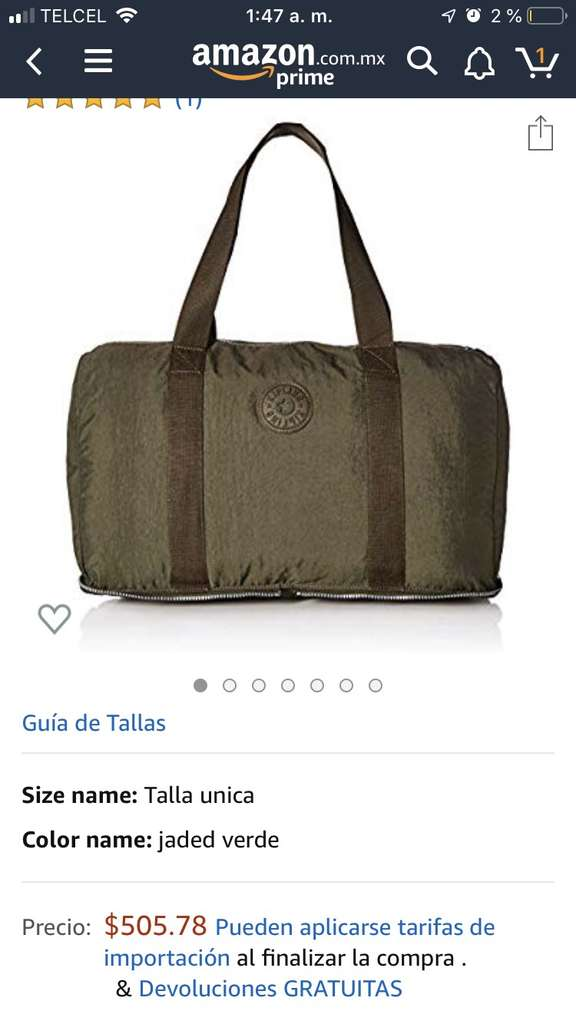 08f4d9d18 Amazon MX: Kipling Bolso de Viaje plegable (Vendido por Amazon USA) -  promodescuentos.com