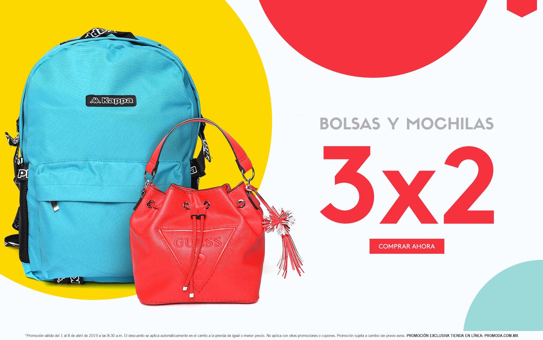 6c81f51c9 Promoda Outlet Online: 3 x 2 en bolsas y mochilas - promodescuentos.com