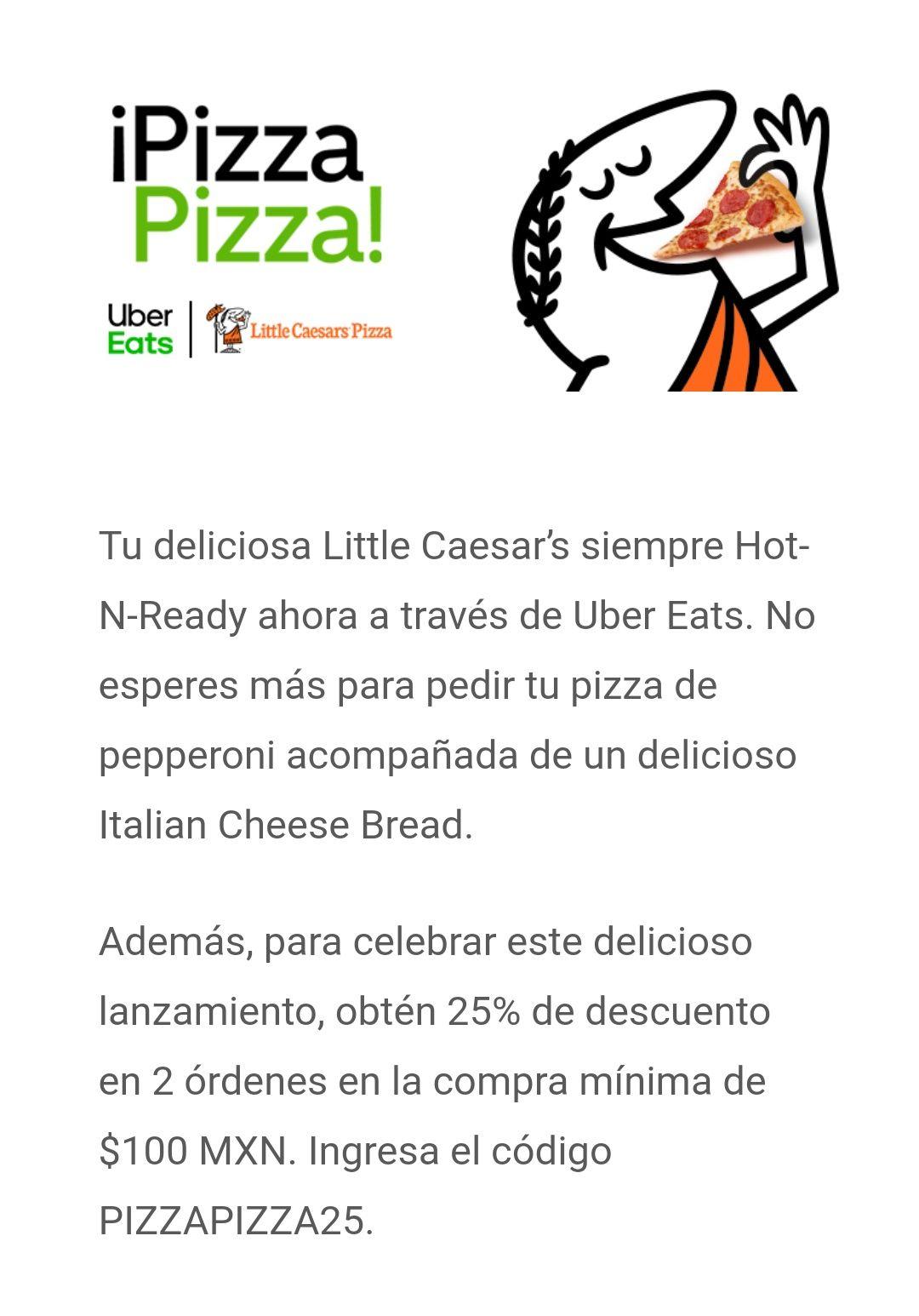 little caesars uber eats