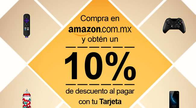 10 de descuento en amazon m xico al pagar con visa. Black Bedroom Furniture Sets. Home Design Ideas