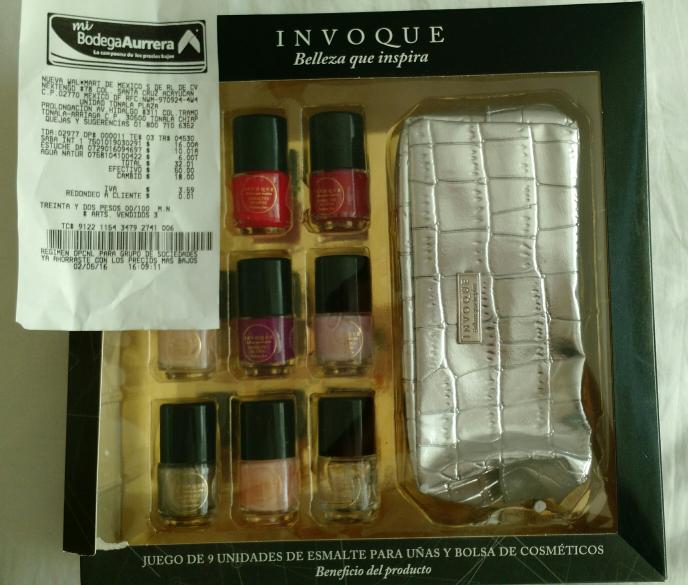Bodega Aurrerá: Estuche de 9 esmaltes para uñas y cosmetiquera a ...