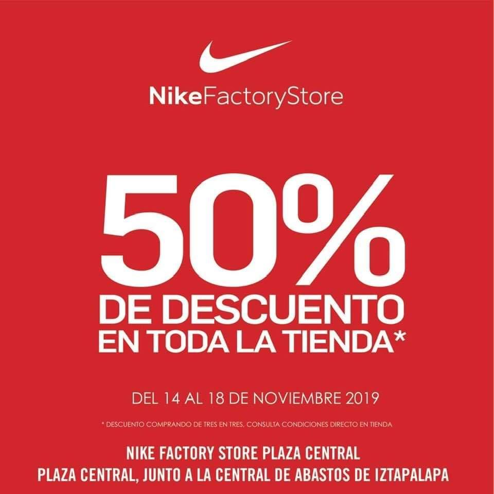 Cinco estómago preferible  Nike factory store Buen Fin 2019: 50% de descuento comprando de 3 en 3 -  promodescuentos.com