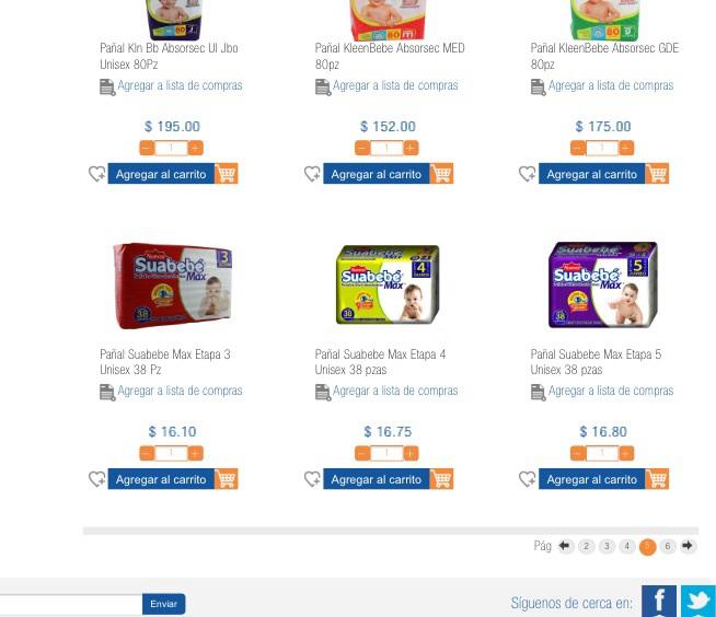 Chedraui en línea Aguascalientes: pañales Suave Bebé a $16