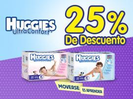 Chedraui: cupón 25% de descuento en pañales Huggies