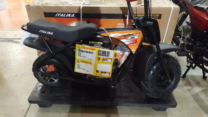 Walmart mini motocicleta italika v rex a 3 for Cuanto cuesta pintar una moto