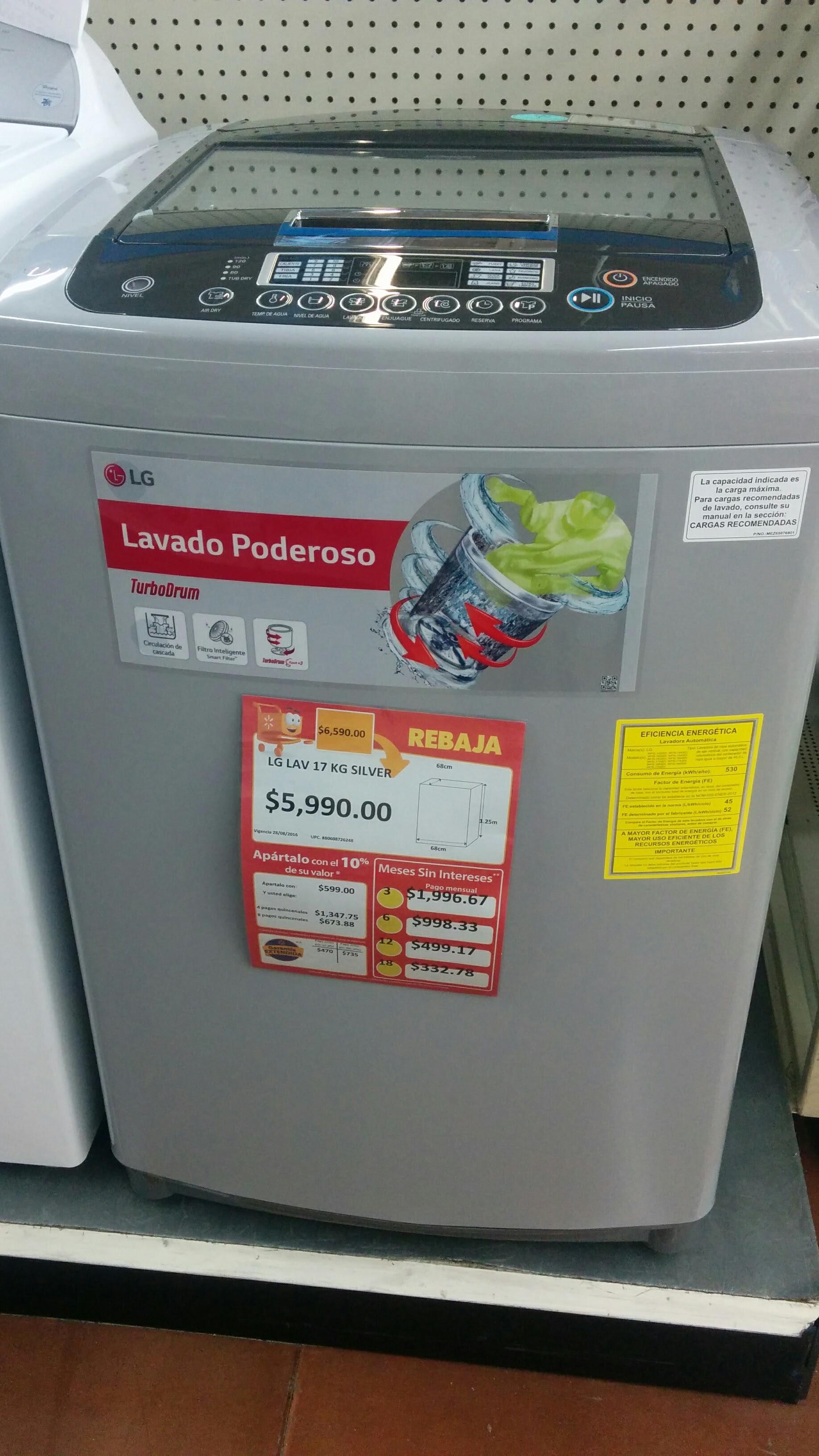 Walmart Lavadora Lg Turbo Drum 17k Silver En Liquidaci 243 N