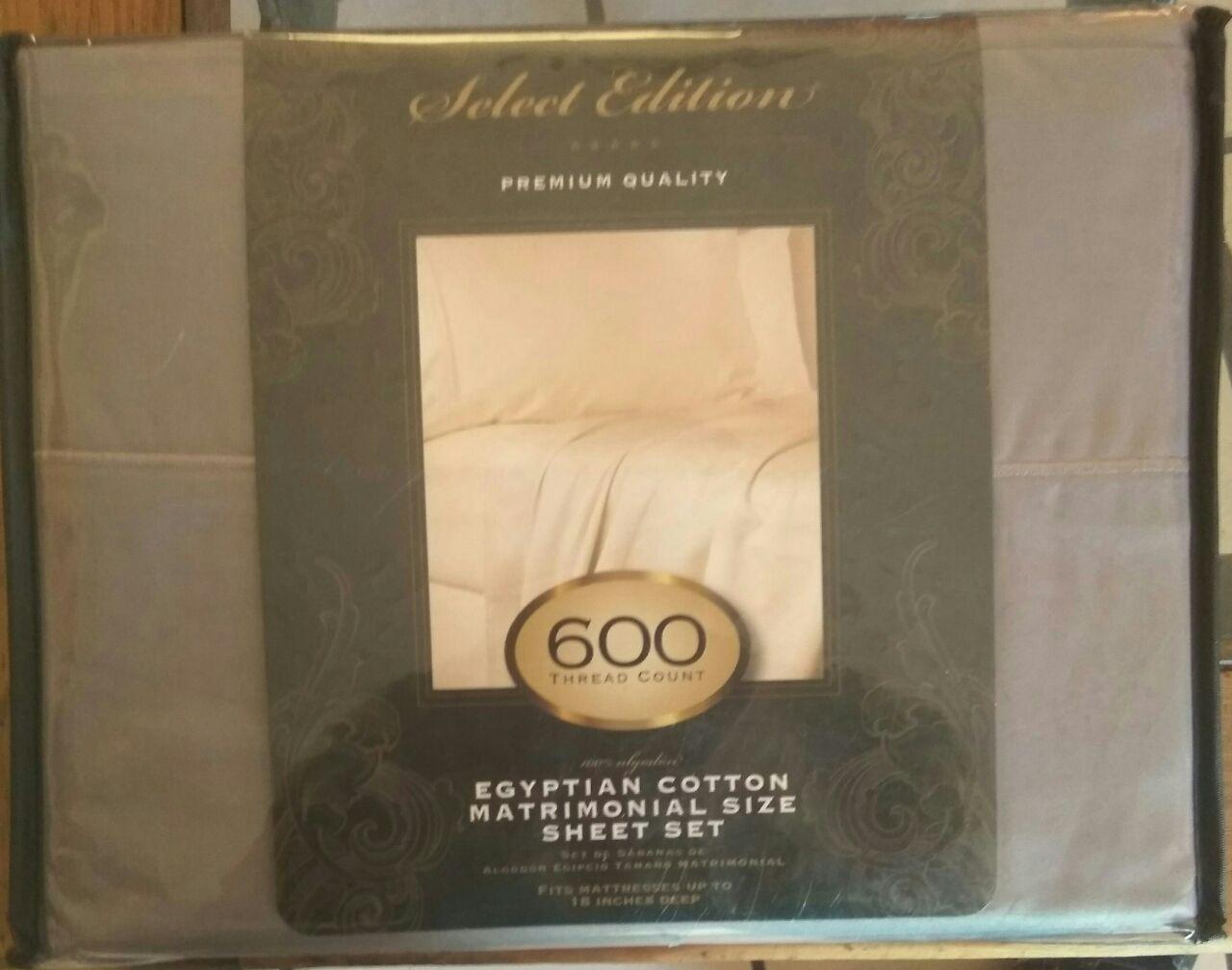 Walmart: Juego de sábanas matrimonial algodón egipcio 600 hilos gris ...