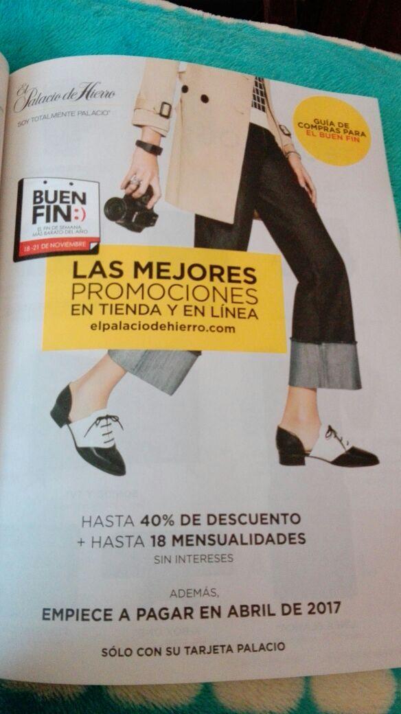 80db3d059a El Buen Fin 2016 en Palacio de Hierro: hasta 40% + doble de puntos