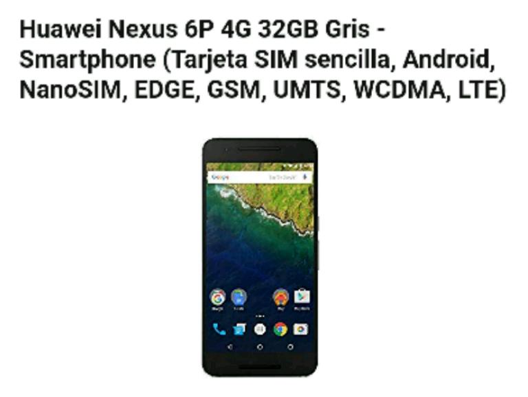 precio nexus 6p amazon