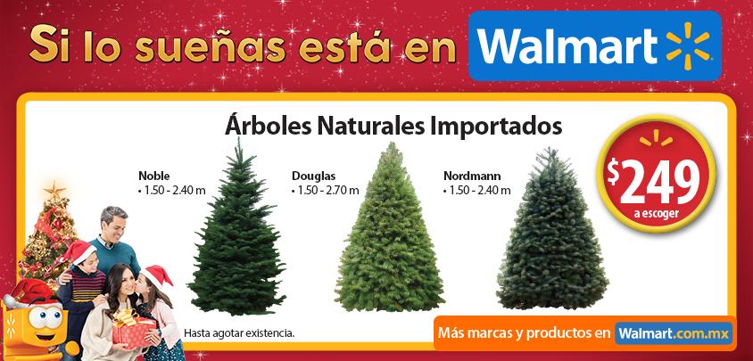 Walmart arboles de navidad naturales importados 249 - Arbol artificial de navidad ...