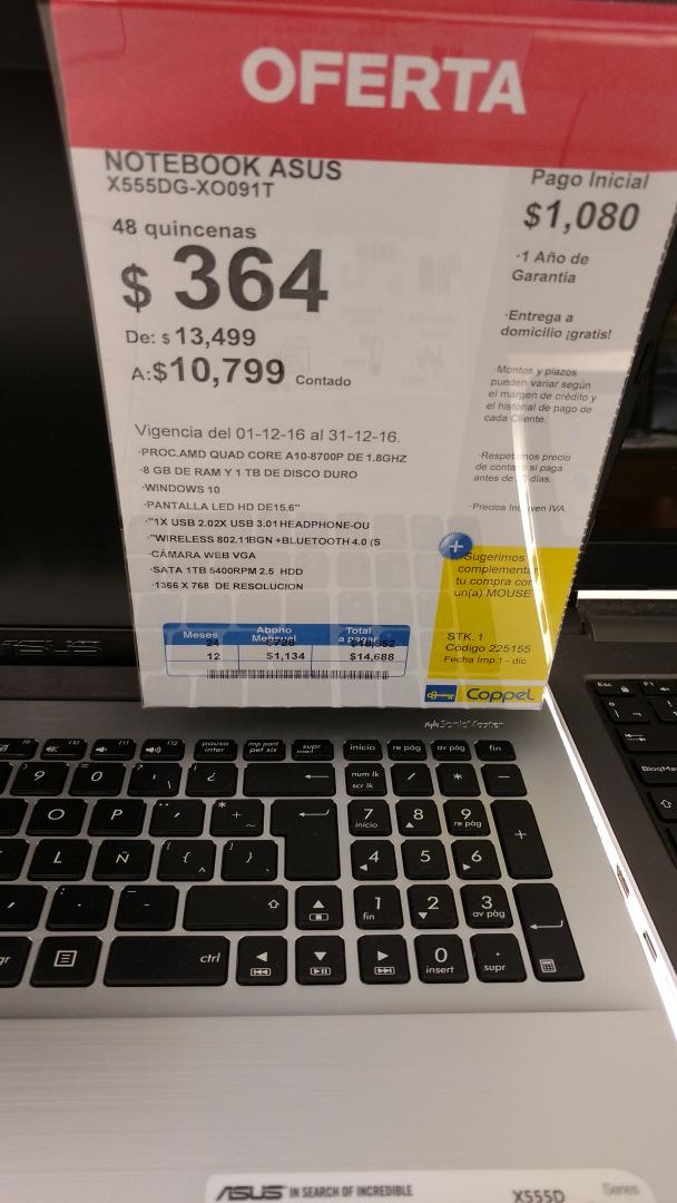 Coppel asus laptop 8 ram amd quad core 6 con 2g de video - Figuras de lladro precios ...