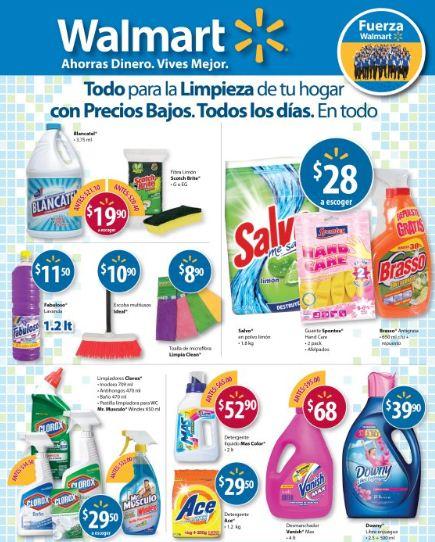 Walmart nuevos precios en productos de limpieza for Articulos para limpieza del hogar
