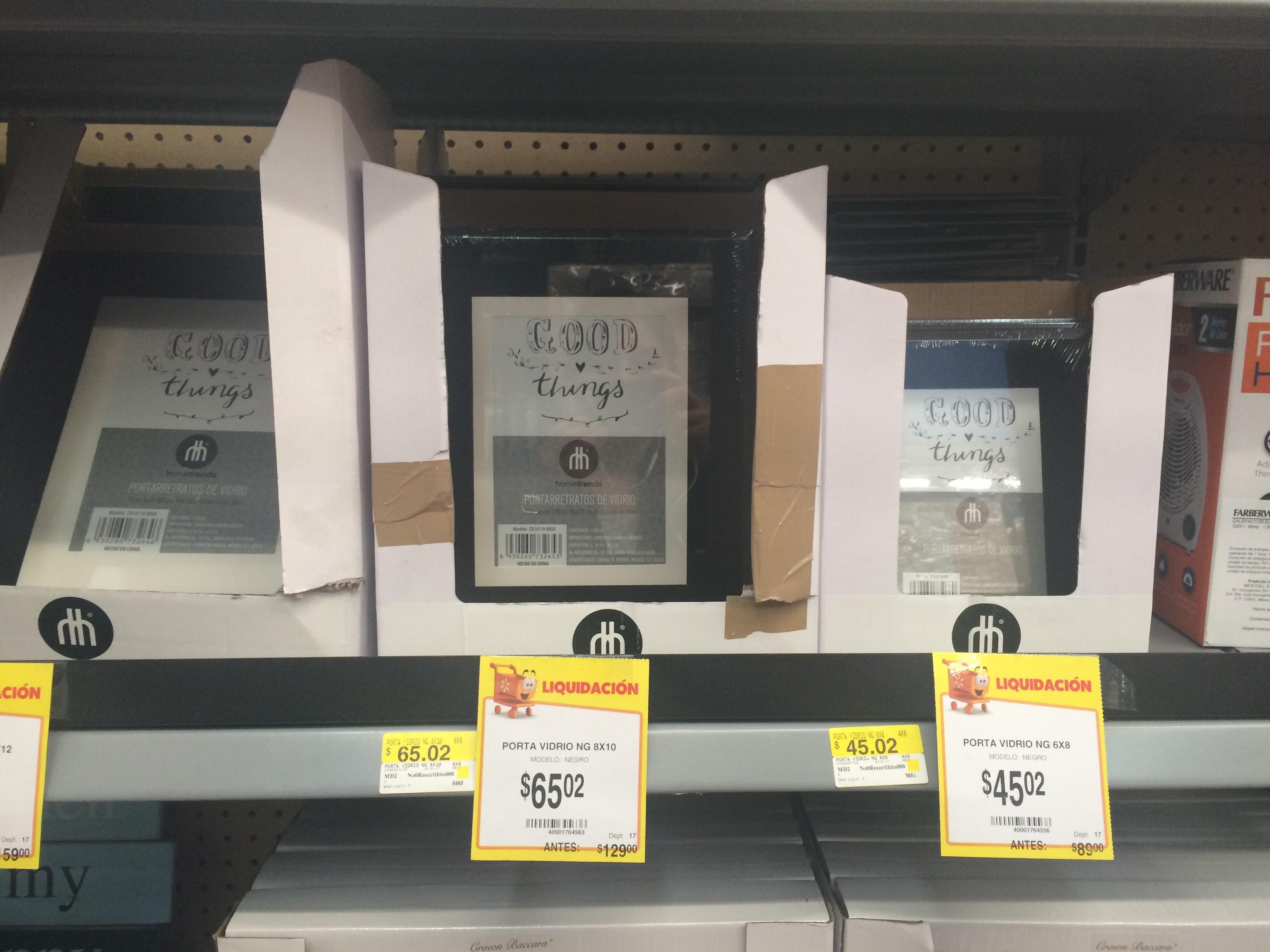 Walmart Perisur CDMX: Portarretratos de vidrio y mas
