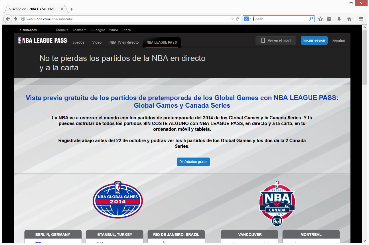 NBA LEAGUE PASS gratis para partidos internacionales de pretemporada