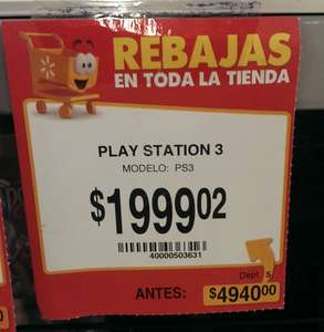 Walmart: PlayStation 3 de 250GB $1,999
