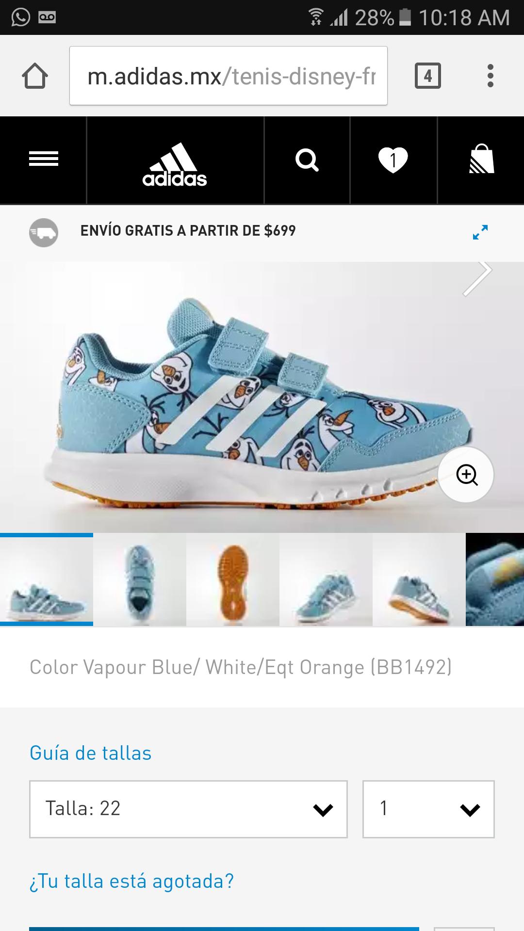 Adidas: Variedad de articulos al 70% de descuento.