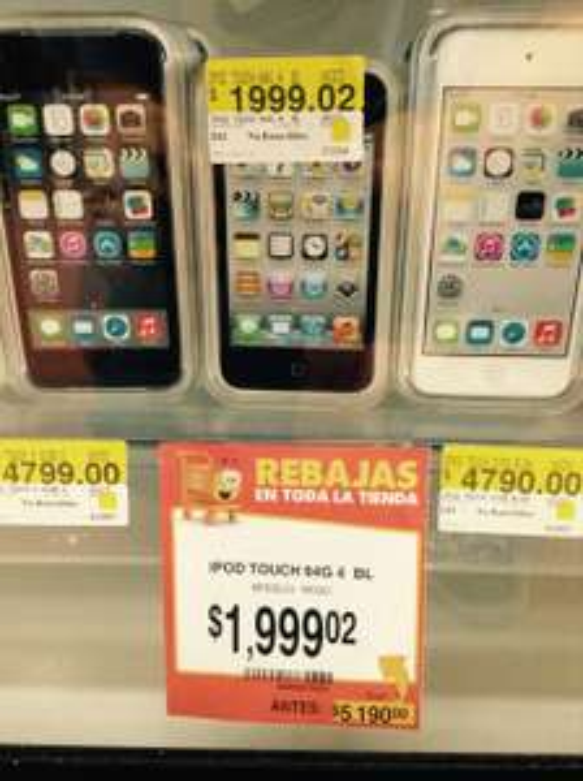 Walmart: iPod 4 Touch 64GB blanco $1,999