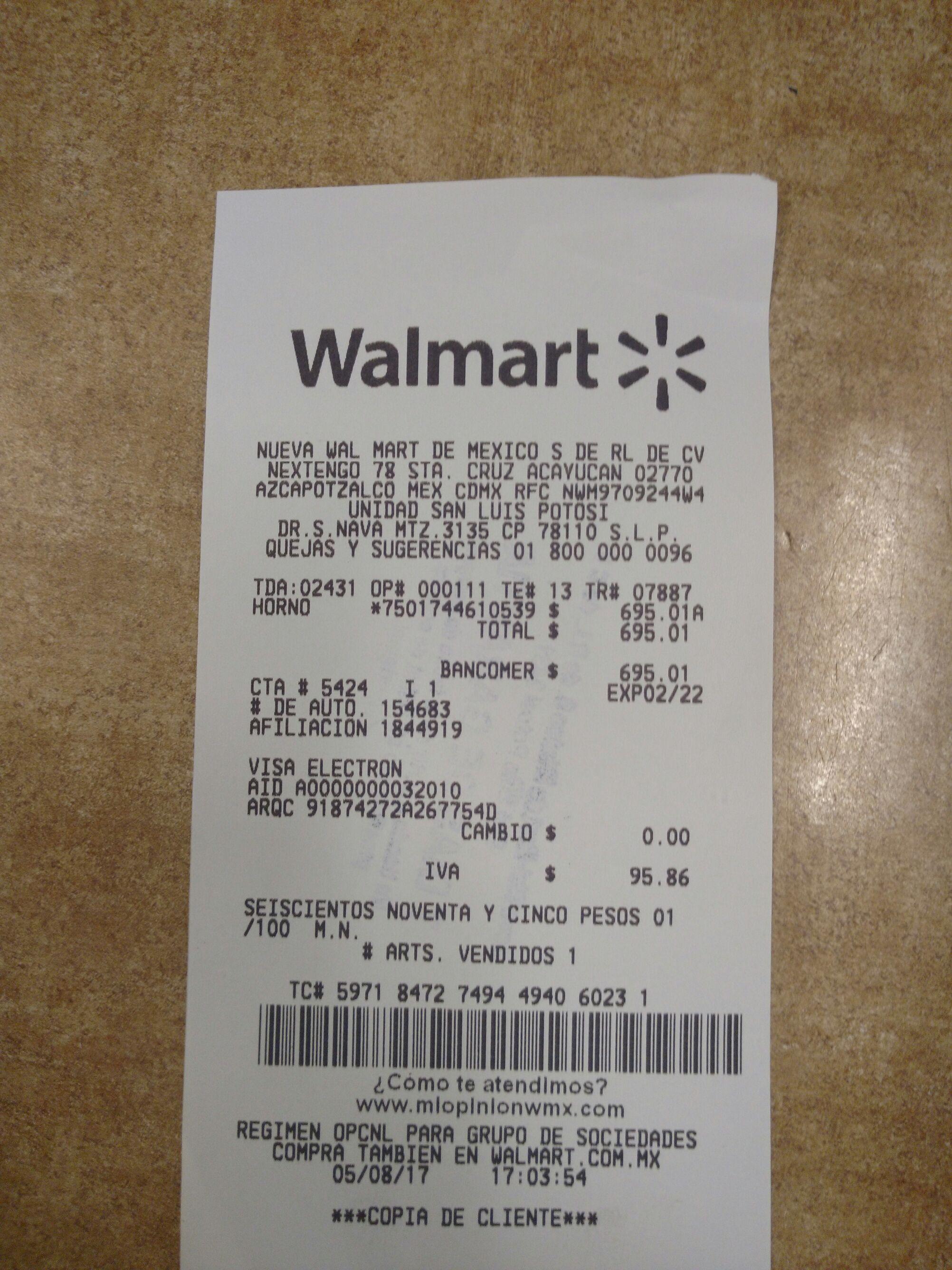Walmart: Horno de Microondas Daewoo 1.1 pies a $695.01