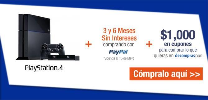 Decompras: PS4 $6,999 + $1,000 de bonificación