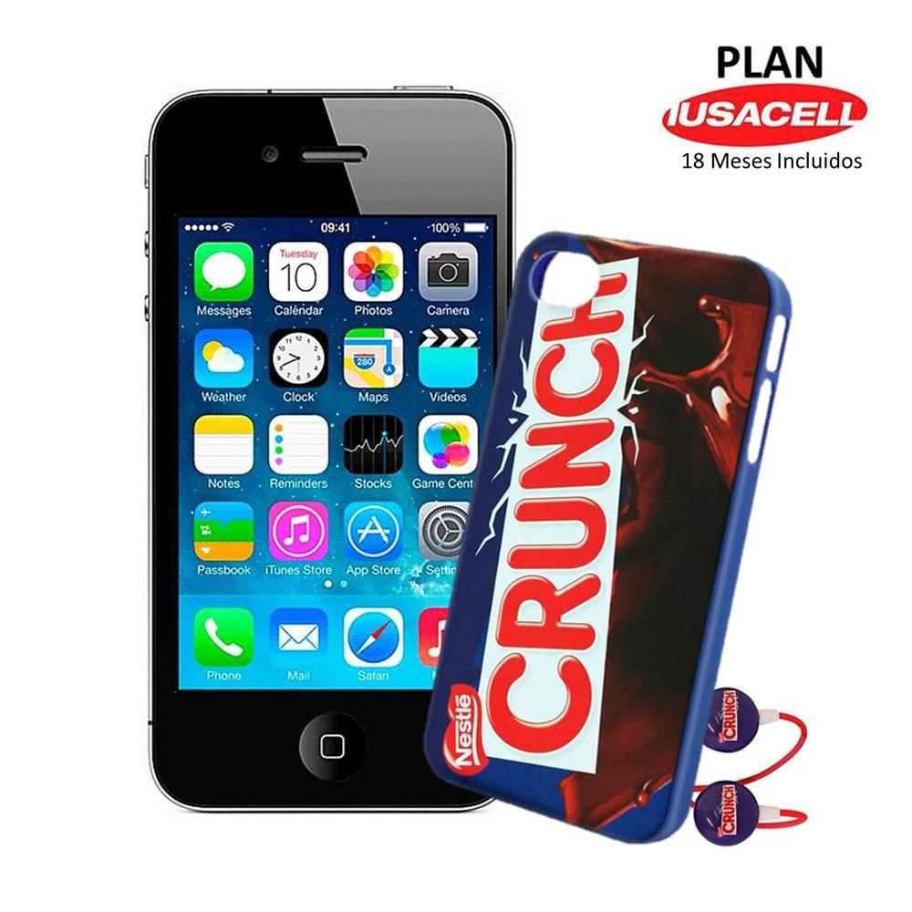 iPhone 4S 8GB en plan Iusacell con 18 meses de servicio y 18 meses sin intereses