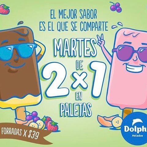Helados Dolphy: Martes 2x1 en Paletas y Jueves 2x1 en helados