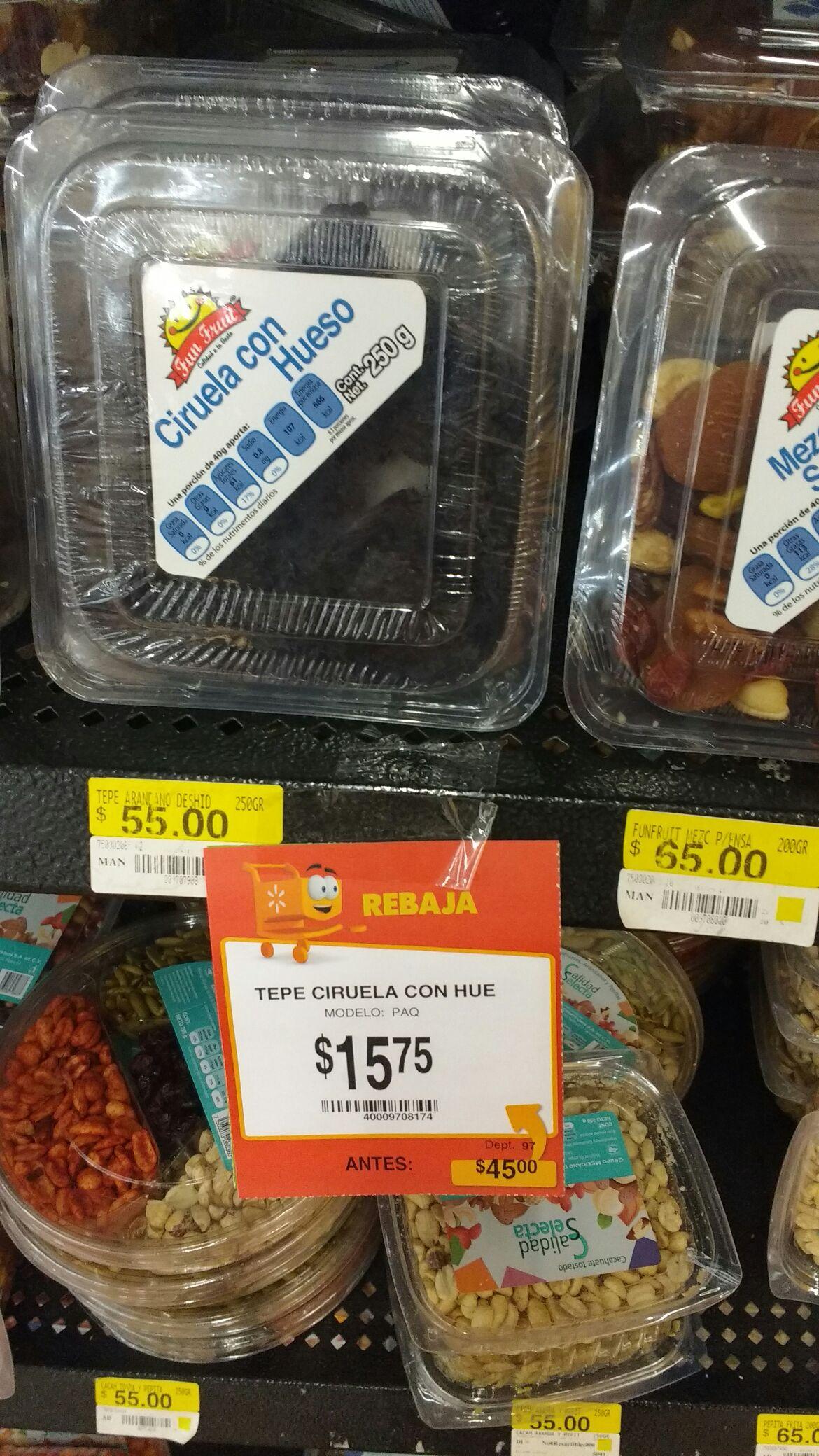 Walmart: blister de Ciruela con hueso a $15.75