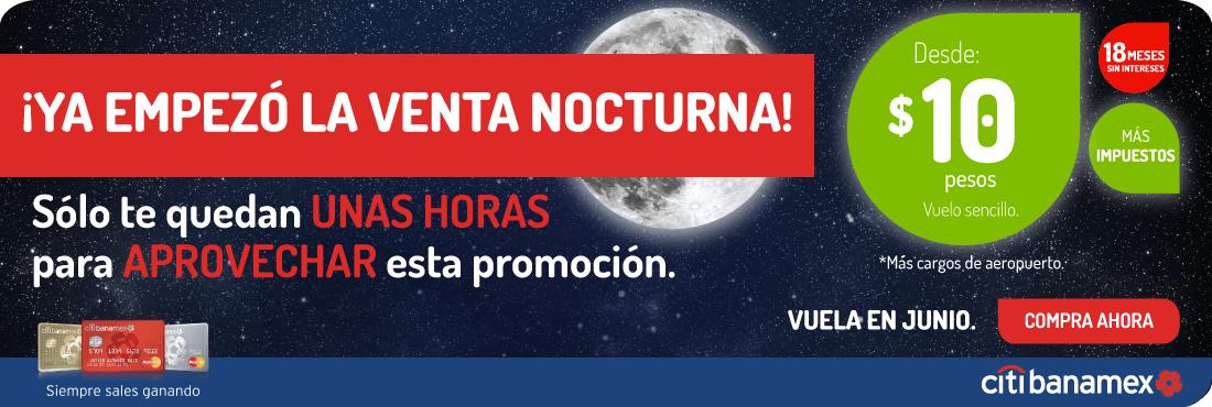 VivaAerobus: Venta Nocturna desde $10 pesos