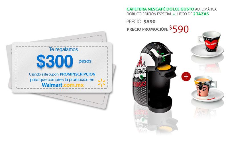 Walmart: cafetera Nescafé Dolce Gusto automática edición especial y juego de 2 tazas $590 + Envio