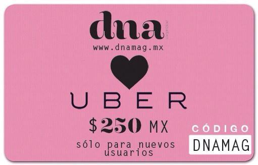 Uber $250.00 para nuevos usuarios