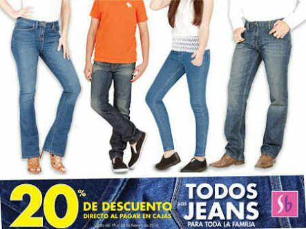 Suburbia: Pantalón marca contempo de $135 a $108 (20% de descuento en cajas en pantalones de mezclilla)