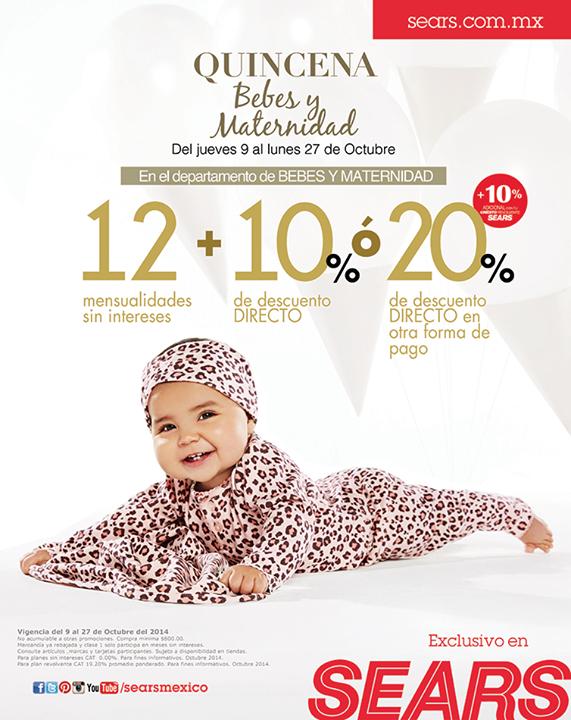 Sears: quincena de bebés y maternidad