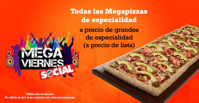 Benedetti's Pizza: Megapizza a precio de grande los viernes